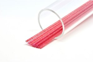 Soft 3mm Soft Clear red  glitter