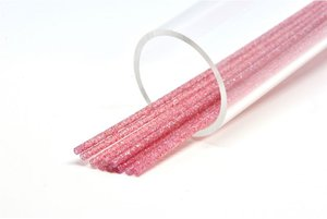 Soft 3mm Soft Fl. red silver glitter