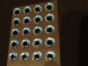 Epoxy 3D-ögon Ice Blue 10mm