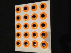 Epoxy 3D-ögon Fluo Orange 10mm