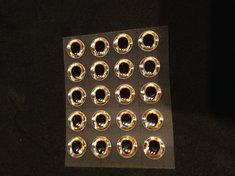 Epoxy 3D-ögon Oval pupill Guld/Silver 10mm