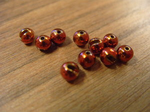 Tungsten Slotted Bead Bright Orange