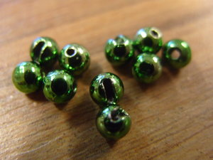 Tungsten Slotted Bead Bright Green